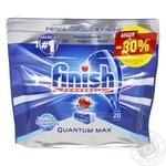 Таблетки для посудомийних машин Finish Quantum Ultimate 20шт. - купити, ціни на Ашан - фото 3