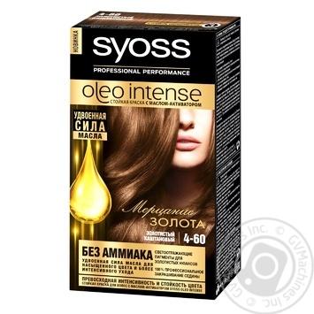 Фарба для волосся Syoss Oleo Intense без аміаку золотистий каштановий 4-60 - купити, ціни на Novus - фото 1