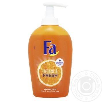 Мыло жидкое Fa Hygiene & Fresh Аромат Апельсина с антибактериальным эффектом 250мл - купить, цены на Восторг - фото 2