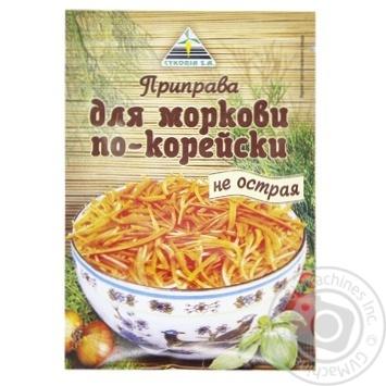 Приправа Cykoria S.A. для корейської моркви не гостра 30г - купити, ціни на МегаМаркет - фото 1