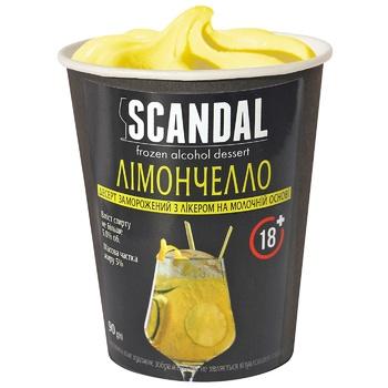 Десерт Scandal Лімончелло з лікер.на мол.осн.замор.90г - купить, цены на СитиМаркет - фото 1