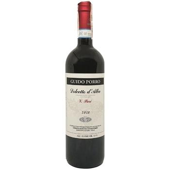 Вино Guido Porro Barbera d'Alba красное сухое 14,5% 0,75л