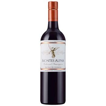 Вино Montes Alpha Cabernet Sauvignon красное сухое 15% 0,75л - купить, цены на СитиМаркет - фото 1