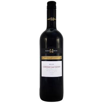 Вино Marcel Martin Cabernet Sauvignon красное сухое 13% 0,75л - купить, цены на СитиМаркет - фото 1