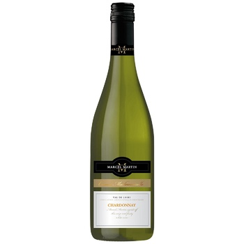 Marcel Martin Chardonnay White Dry Wine 12,5% 0,75l - buy, prices for CityMarket - photo 1