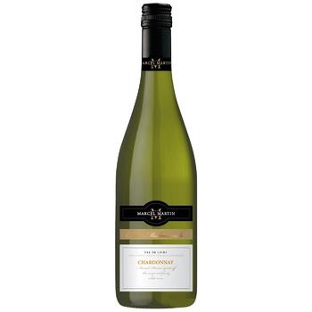 Вино Marcel Martin Chardonnay біле сухе 12,5% 0,75л - купити, ціни на CітіМаркет - фото 1