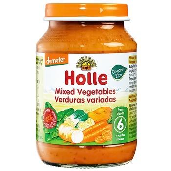 Пюре Holle Овочевий мікс з 6міс.скл 190г - купити, ціни на CітіМаркет - фото 1