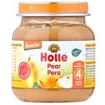 Puree Holle pear for children from 4 months 125g glass jar