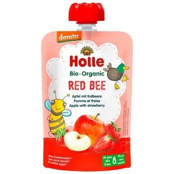 Holle Red Bee Apple Strawberry from 8 Months Puree 100g - buy, prices for CityMarket - photo 1