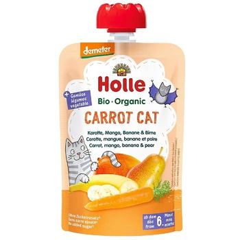 Пюре Holle Carrot Cat моркв,манго,банан,груш.з 6міс.д/п 100г - купити, ціни на CітіМаркет - фото 1