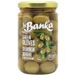 Оливки the Banka зелені з/кіст.скло 300г