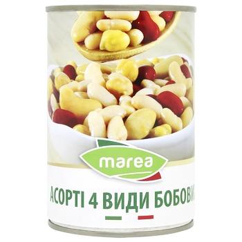 Ассорти 4 вида бобовых Marea ж/б 400г - купить, цены на СитиМаркет - фото 1