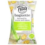 Сухарики Flint пшеничні вершки та цибулька 60г