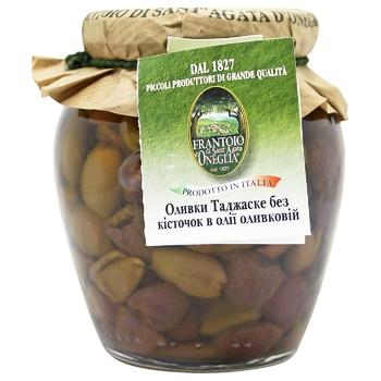 Оливки Frantoio di Sant'agata Таджаске б/кіст.в/олії скл 270г - купити, ціни на CітіМаркет - фото 1