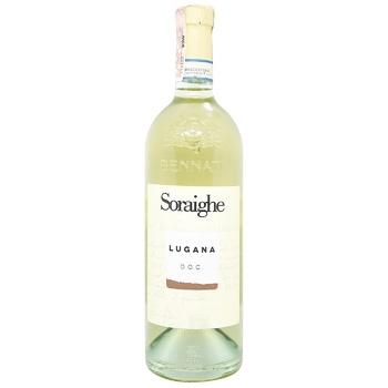 Вино Bennati Soraighe Lugana Doc белое сухое 12,5% 0,75л - купить, цены на СитиМаркет - фото 1