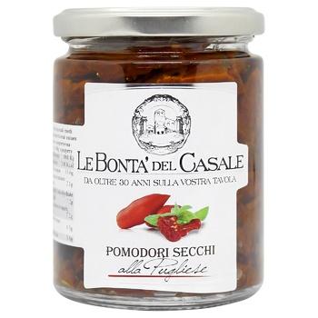 Vegetables tomato Le bonta del casale sun dried 314ml glass jar - buy, prices for CityMarket - photo 1