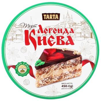 Торт Tarta Легенда Києва повітряно-арахісовий 450г - купити, ціни на CітіМаркет - фото 1
