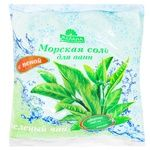 Морськая соль  для ванн Желана Зеленый чай с пеной и коалином 500г