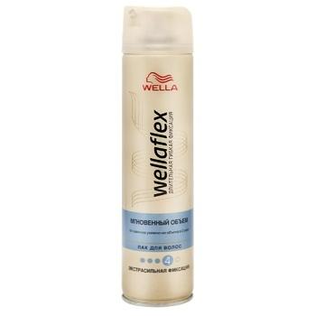 Лак для волос WELLAFLEX Мгновенный объем экстрасильной фиксация 250мл