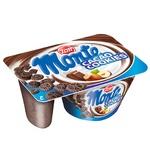 Десерт Zott Monte Сookies молочний з шоколадом, лісовими горіхами та печивом 13,1% 125г - купити, ціни на CітіМаркет - фото 1