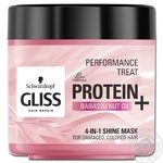 Gliss Kur Performance Treat 4in1 For Damaged Dyed Hair Gloss Mask 400ml