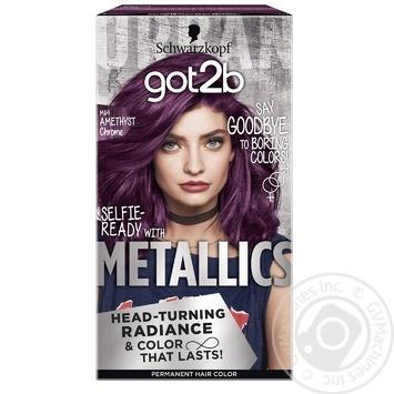Крем-фарба для волосся got2b Metallics M69 Аметистовий Хром 142,5мл