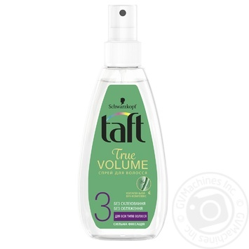 Спрей-жидкость Taft Объем для укладки волос фиксация 3 150мл - купить, цены на Метро - фото 1