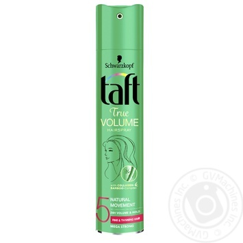 Лак для волос Taft Объем Мегафиксация 5 250мл