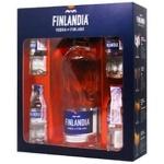 Горілка Finlandia 40% 0,5л і 4 смакові мініатюри - купити, ціни на CітіМаркет - фото 1