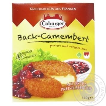 Сырные шарики Coburger Камамбер с клюквой 45% 350г - купить, цены на УльтраМаркет - фото 1