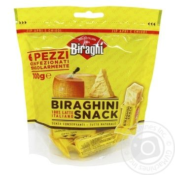 Сыр Biraghi Гран Бирахи 14мес 32% кор/мол 100г - купить, цены на Фуршет - фото 1