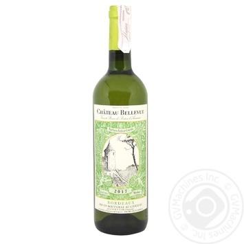 Вино Chateau Bellevue Entre-deux-Mers белое сухое 12% 0,75л - купить, цены на СитиМаркет - фото 3