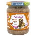 Корм Леопольд Мясной рацион влажный с ягненком для собак 460г - купить, цены на Фуршет - фото 1