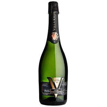 Вино игристое Villa Krim Гранд Кюве белое полусухое 10-13,5% 0,75л - купить, цены на СитиМаркет - фото 1