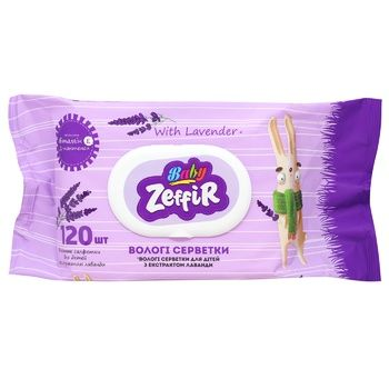 Zeffir Wet Wipes with Lavender Extract 120pcs