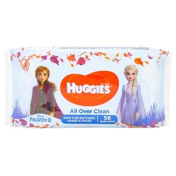 Серветки вологі Huggies  All Over Clean 56шт