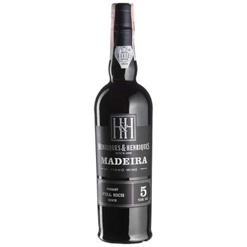 Вино Henriques & Henriques Finest Full Rich Madeira 5 років біле кріплене 19% 0,5л - купити, ціни на CітіМаркет - фото 1