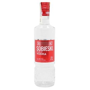 Водка Sobieski Premium 40% 0,5л - купить, цены на Novus - фото 1