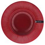 Тарелка Ambition Dajar керамическая суповая вишневая 24см