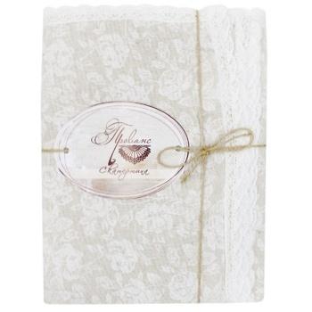 Скатерть Прованс White Rose с кружевом 120х140см