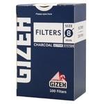 Фильтр для самокруток Gizeh угольный 100шт