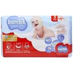 Подгузники Bambik Jumbo Midi 3 детские 4-9кг 45шт