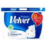Toilet paper Velvet white 12pcs