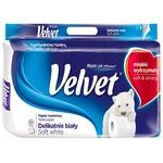 Папір Velvet Делікатний біл.туалет.3 шар.8 рулонів