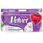 Папір Velvet Лаванда туалет.3 шар.8 рулонів