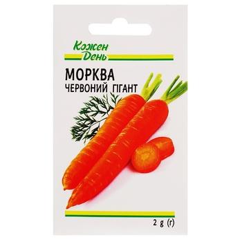 Семена Каждый день Морковь Красный Гигант 2г
