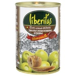 olive Liberitas with anchovy green canned 300ml can