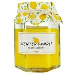 Свеча в банке с ароматом лимона 8см