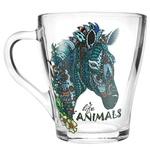Кружка Animals Грация стеклянная 250мл