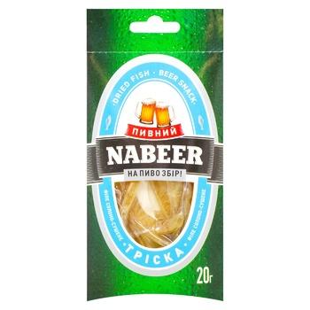 Треска филе Пивной Nabeer солено-сушеные 20г